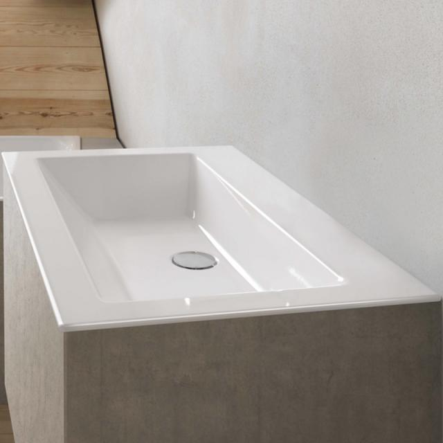 Bette Loft drop-in washbasin white, with BetteGlaze Plus, without tap hole