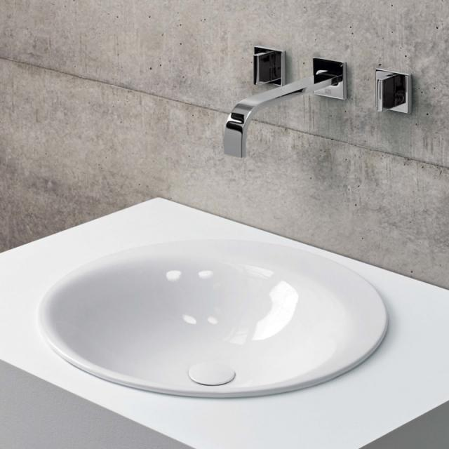 Bette Lux Oval drop-in washbasin white, without tap hole