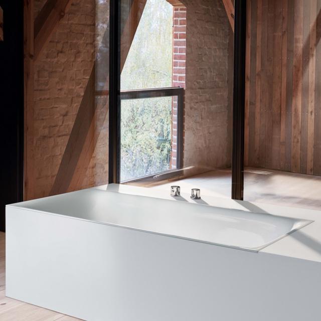 Bette Lux rectangular bath, built-in white, with BetteGlaze Plus