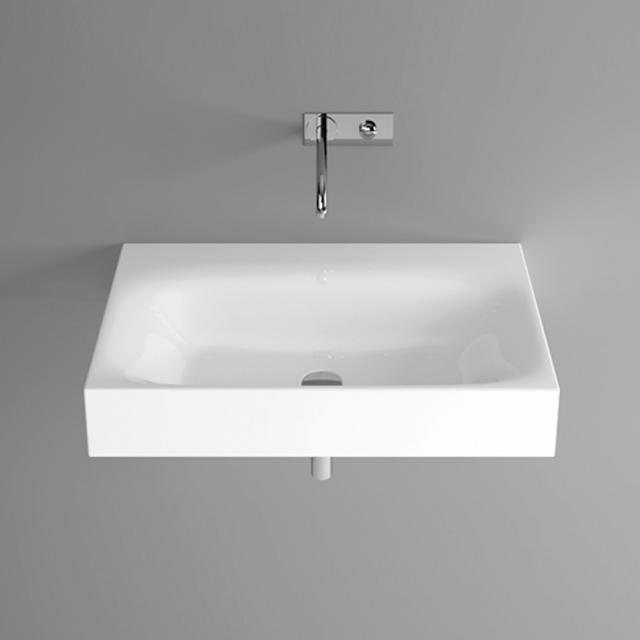 Bette Lux wall-mounted washbasin white, with BetteGlaze Plus, without tap hole