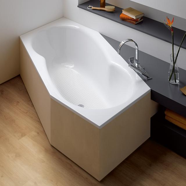 Bette Metric hexagonal bath, built-in white, with BetteAnti-slip full base surface