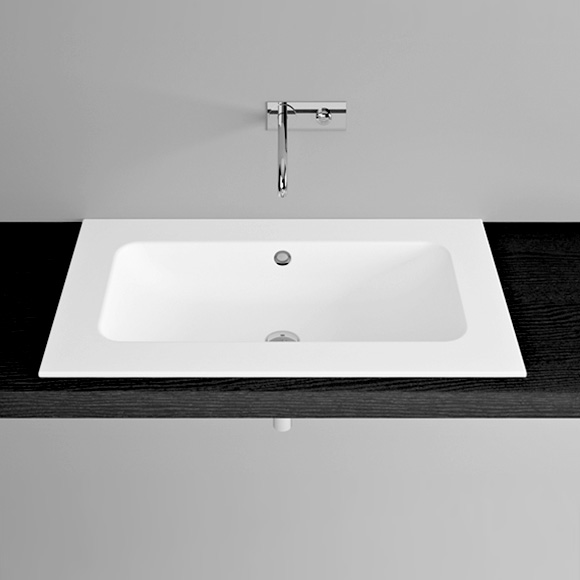 Bette One recessed washbasin white, with BetteGlaze