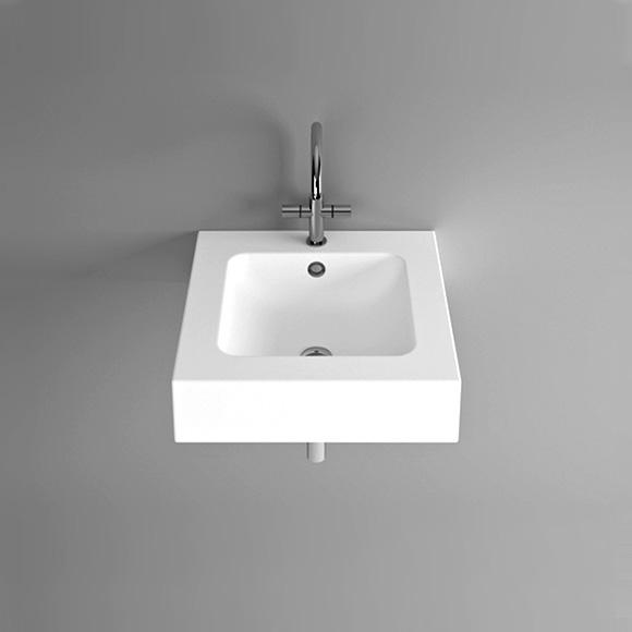 Bette One wall-mounted washbasin white