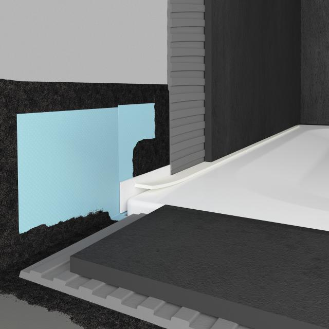 Bette sealing system Pro for quadrant shower tray