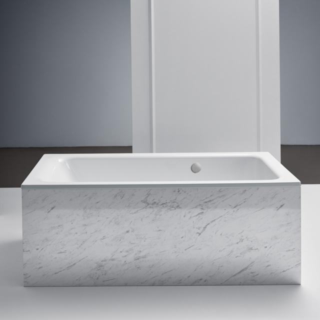 Bette Select rectangular bath, built-in, with rear overflow on the side white, with BetteAnti-slip