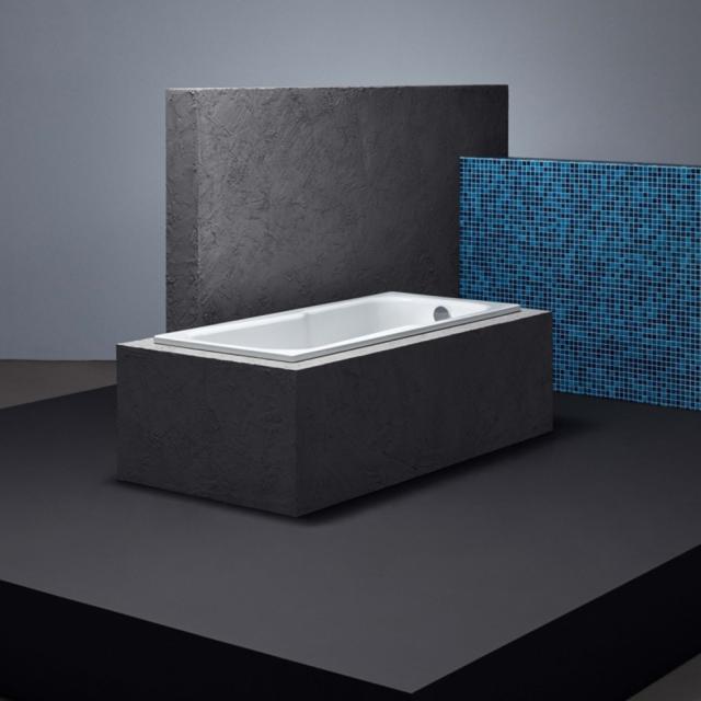 Bette Set rectangular bath with shower zone, built-in white