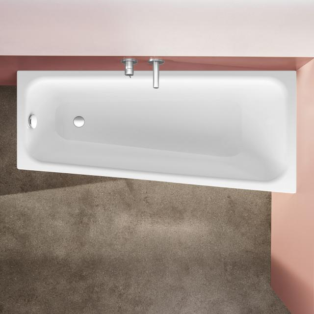 Bette Space compact bath, built-in white