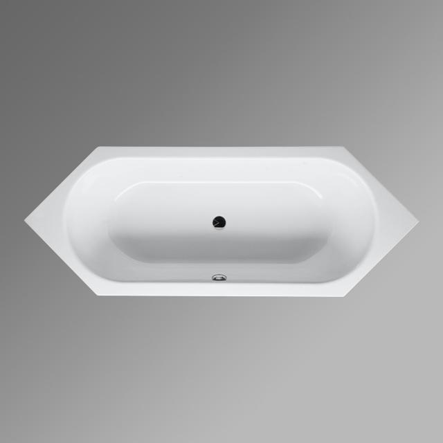 Bette Starlet hexagonal bath, built-in white, with BetteGlaze Plus