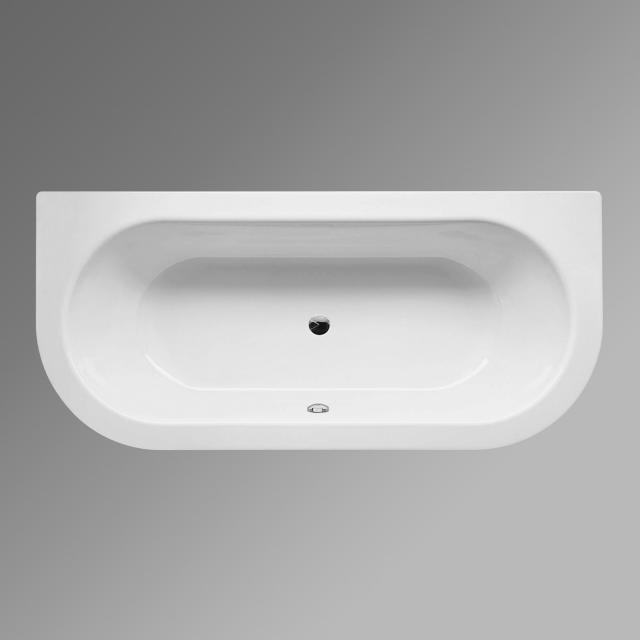 Bette Starlet I back-to-wall bath, built-in white, with BetteGlaze Plus