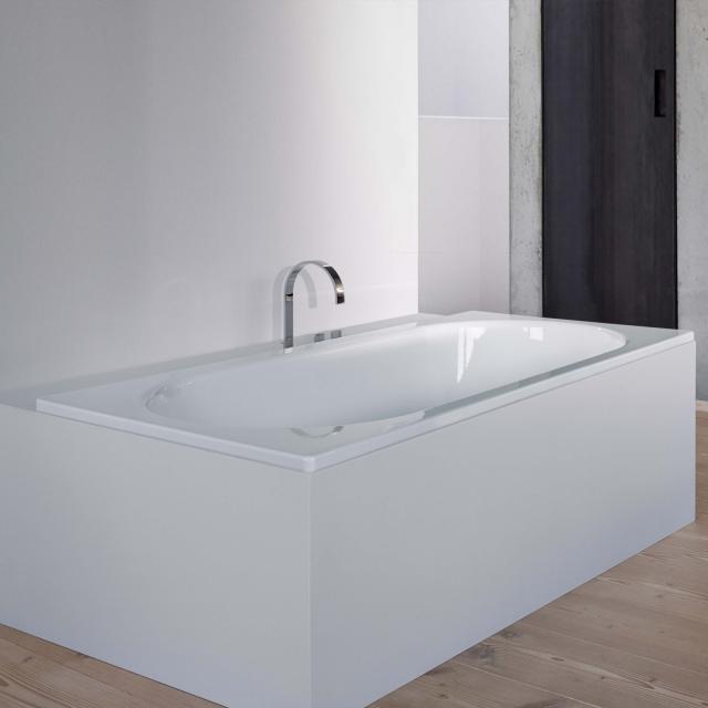Bette Starlet rectangular bath, built-in white, with BetteGlaze Plus