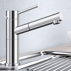 Blanco Alta-S compact single lever kitchen mixer, with pull-out spray, for low pressure