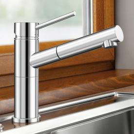 Blanco Alta-S-F compact single lever kitchen mixer, with pull-out spray, for front-of-window installation