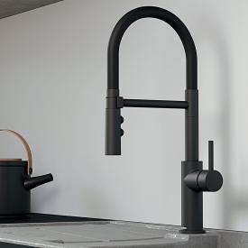 Blanco Catris-S Flexo single lever kitchen mixer matt black