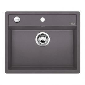 Blanco Dalago 6-F sink, flush-mounted bowl SILGRANIT®PuraDur® II rock grey