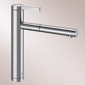 Blanco Linee-S single lever kitchen mixer, with pull-out spray silk matt stainless steel