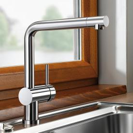 Blanco Linus-F single lever kitchen mixer, for front-of-window installation chrome