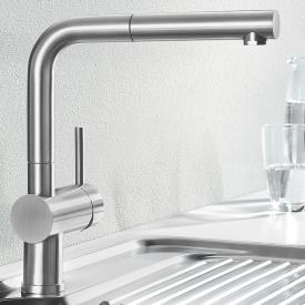 Blanco Linus-S single lever kitchen mixer, with pull-out spray brushed stainless steel