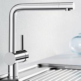 Blanco Linus single lever kitchen mixer, for low pressure chrome
