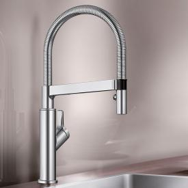 Blanco Solenta-S single lever kitchen fitting with pull-out spray chrome