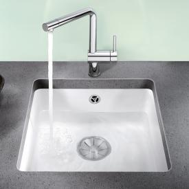 Blanco Subline 375-U sink crystal white gloss