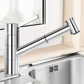 Blanco Tivo-S-F single lever kitchen mixer, with pull-out spray, for low pressure