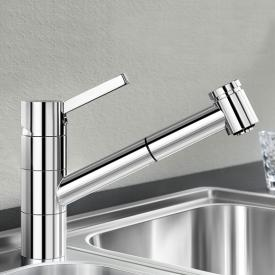 Blanco Tivo-S single lever kitchen mixer, with pull-out spray chrome
