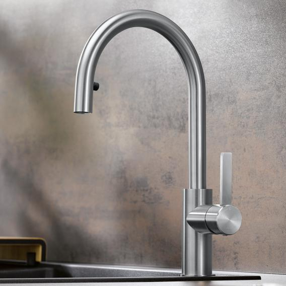 Blanco Candor-S single lever kitchen mixer, with pull-out spray