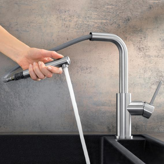 Blanco Lanora-S single lever kitchen mixer, with pull-out spray