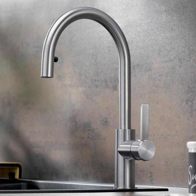Blanco Candor-S single lever kitchen mixer, with pull-out spray, for low pressure