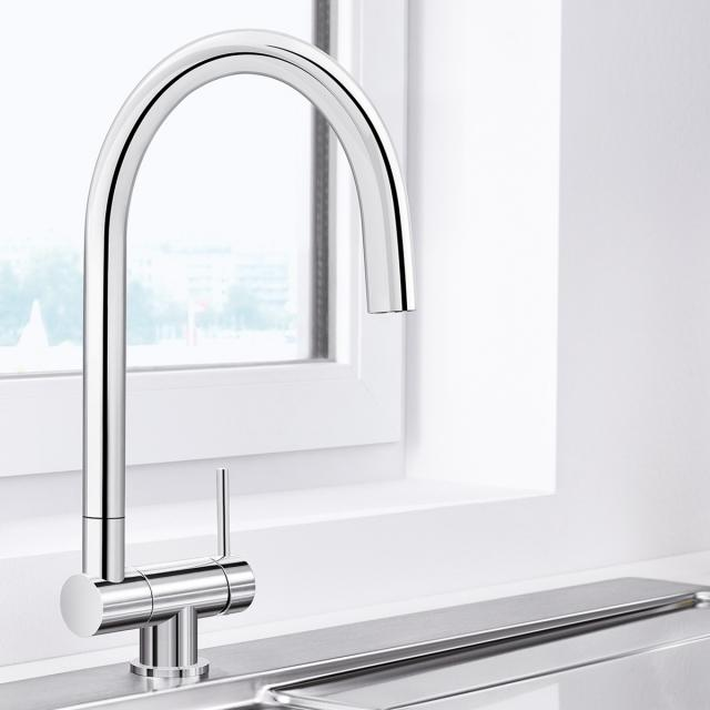 Blanco Coressa-F single lever kitchen mixer, for front-of-window installation