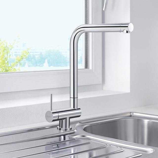 Blanco Laressa-F single lever kitchen mixer, for front-of-window installation