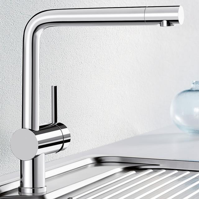 Blanco Linus single lever kitchen mixer, for low pressure chrome