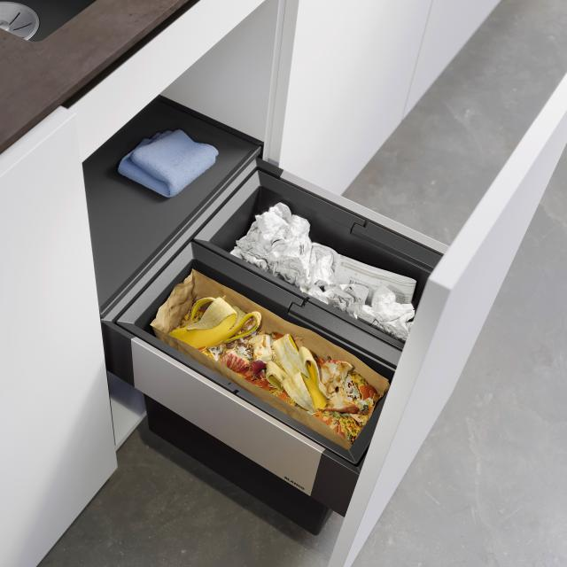 Blanco Select II waste separation system with system cover, for 45 cm undercounter unit