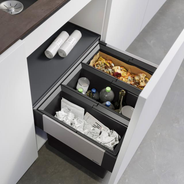 Blanco Select II waste separation system with system cover, for 60 cm undercounter unit