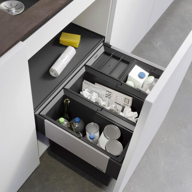 Blanco Select II waste separation system with system cover and 1 bin lid, for 60 cm undercounter unit