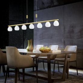 B-LEUCHTEN CENTURION LED pendant light with dimmer, 7 heads