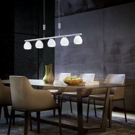 B-LEUCHTEN CENTURION LED pendant light with dimmer, 5 heads