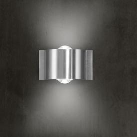 B-LEUCHTEN STREAM LED wall light, 2 heads