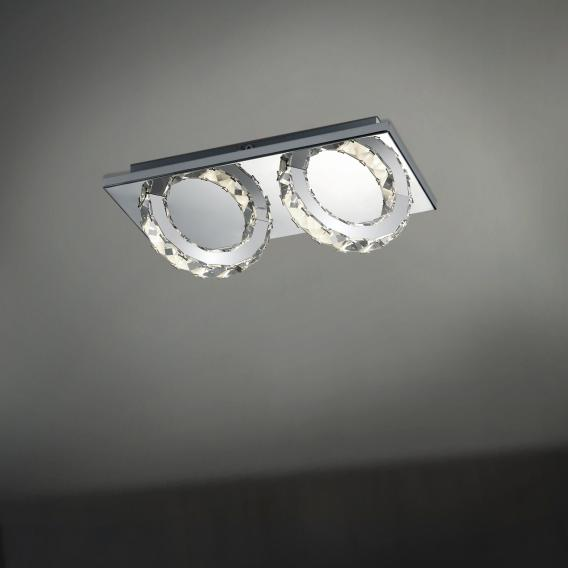 B-LEUCHTEN CASCADE LED ceiling light, 2 heads