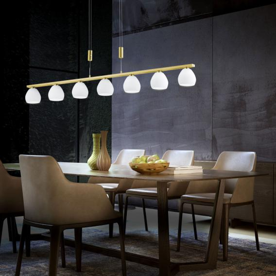 B-LEUCHTEN CENTURION LED pendant light with dimmer, 7 heads