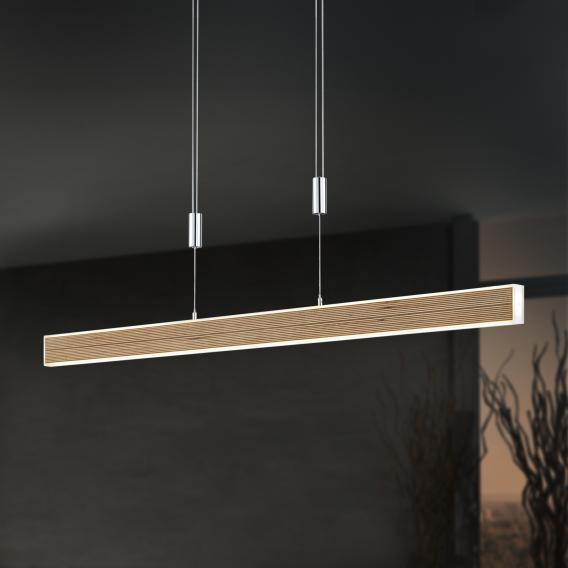B-LEUCHTEN KIRUNA WOOD LED pendant light with dimmer