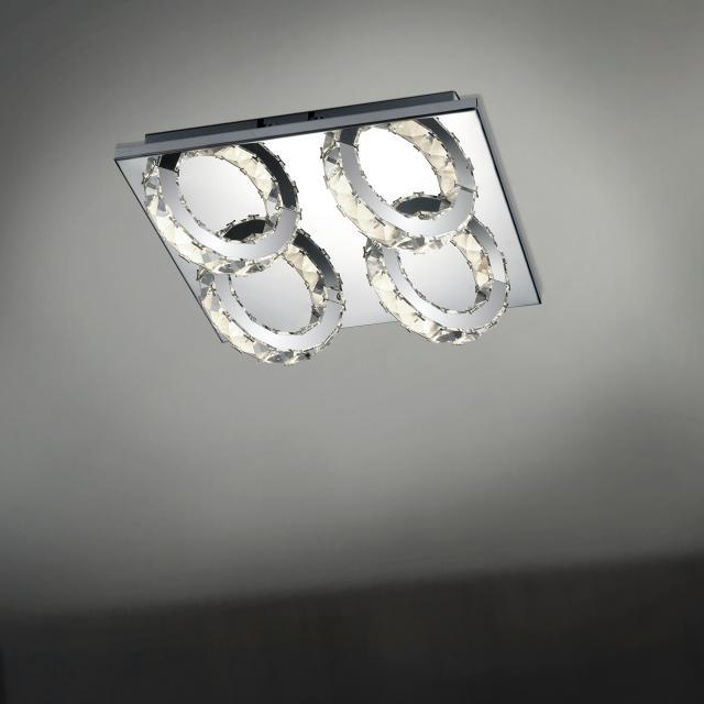 B-LEUCHTEN CASCADE LED ceiling light, 4 heads