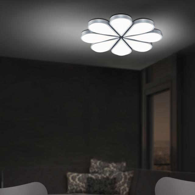 B-LEUCHTEN FLOWER LED ceiling light with dimmer and CCT