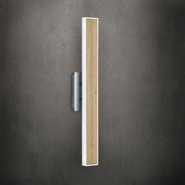 B-LEUCHTEN KIRUNA WOOD LED wall light with on/off switch
