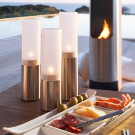 Blomus FARO set of 3 tea lights matt stainless steel/satin