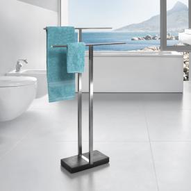 Blomus MENOTO Porte-serviettes sur pied inox brossé/ardoise
