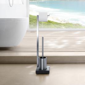 Blomus MENOTO toilet butler brushed stainless steel/slate