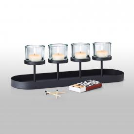 Blomus NERO candle holder for 4 candles