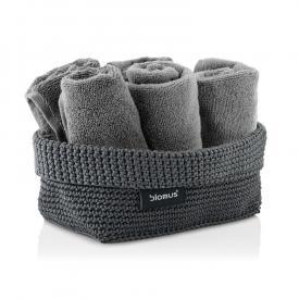 Blomus TELA crochet rope basket anthracite