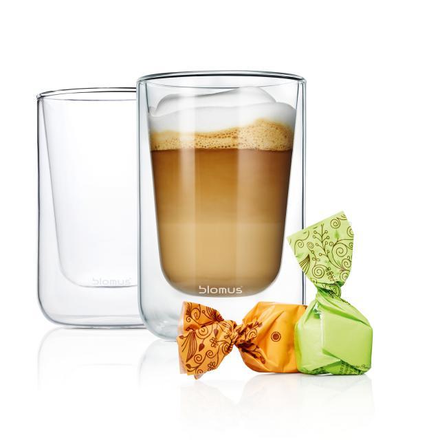 Blomus NERO set of 2 insulated cappuccino / tea glasses